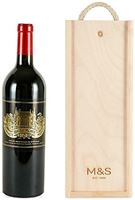 Château Palmer- Single Bottle with Wooden Presenta...