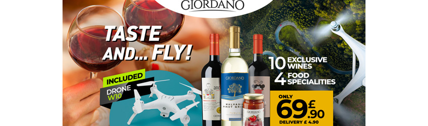 Free drone with your wine