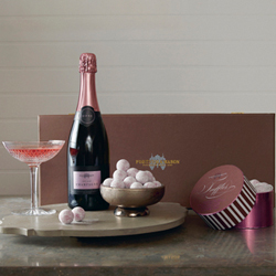 Rose Champagne and Truffles Box
