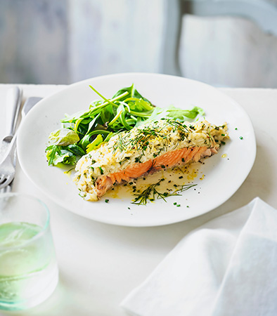 Baked Salmon & Risotto