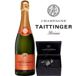Taittinger with branded Cufflinks