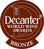Decanter 2013 Bronze Winner